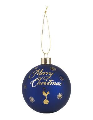 Spurs Matte Navy And Gold Bauble