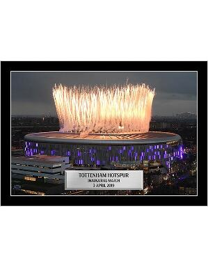Spurs Inaugural Single Stadium Framed Picture