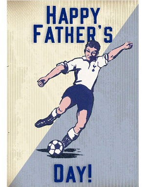 Spurs Retro Fathers Day Card