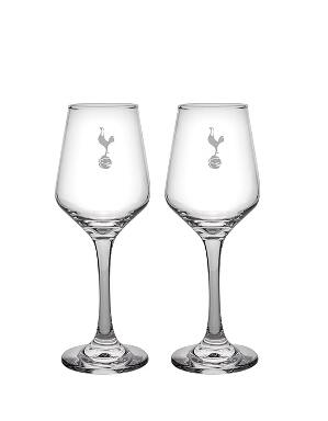 Spurs Twin Pack Wine Glasses