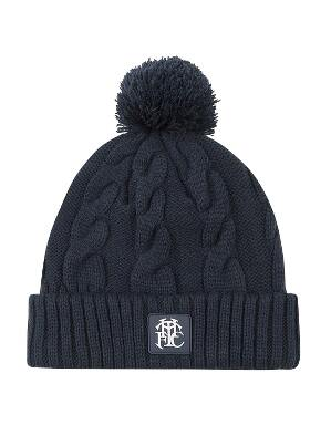Spurs Adult Navy Cable Beanie