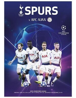 Spurs Vs Ajax Champions League Semi-Final Programme