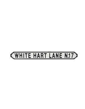 Spurs White Hart Lane Wooden Street Sign