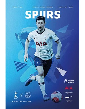 Spurs vs Everton programme