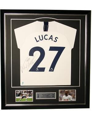 Spurs 2019/2020 Framed Signed Lucas Shirt