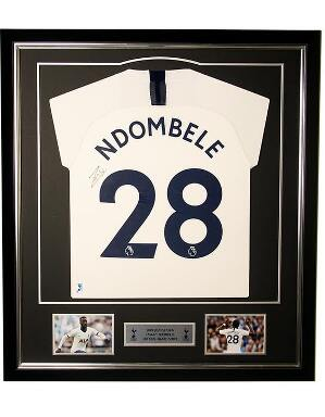 Spurs 2019/2020 Framed Signed Ndombele Shirt