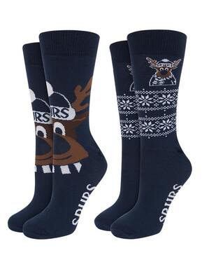 Spurs Adult 2 Pack Christmas Socks