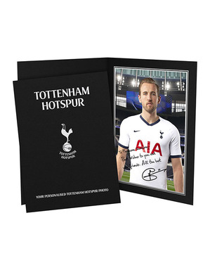 Spurs Player Personalised Autograph Picture In Folder