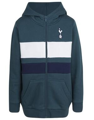 Kids Boys Spurs Colour Block Zip Through Hoodie