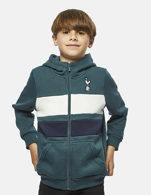 Youth Boys Spurs Block Zip through Hoodie