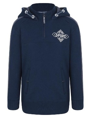 Spurs Kids 1/4 Zip Funnel Neck Hoodie