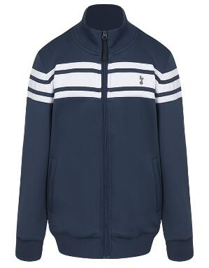 Kids Boys Contrast Stripe Zip Up Jacket