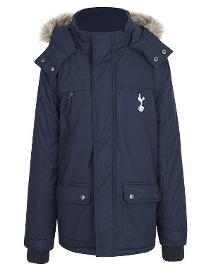 Spurs Boys Hooded Parka Coat