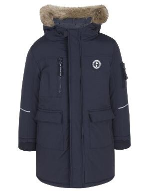 Spurs Boys Fur Trim Parka