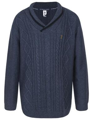 Spurs Kids Boys Shawl Collar Jumper