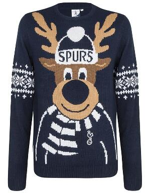 Spurs Kids Reindeer Christmas Jumper