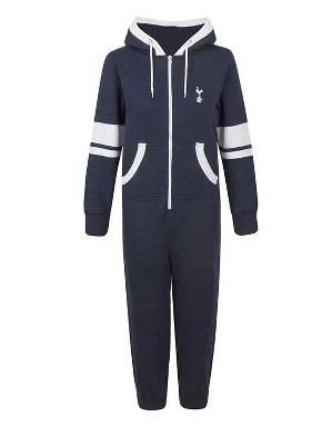 Spurs Boys Contrast Zip Onesie