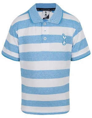 Spurs Kids Stripe Marl Effect Polo