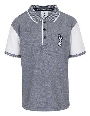 Spurs Boys Contrast Sleeve Polo
