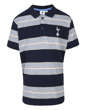 Spurs Boys Block Multi Stripe Polo