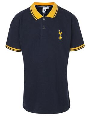 Kids Boys Spurs Navy Tipped Collar Polo