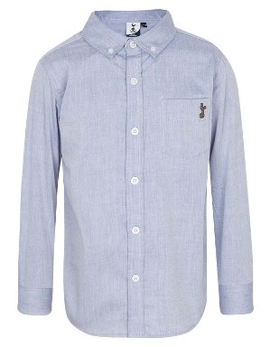 Spurs Boys Chambray Light Blue Shirt