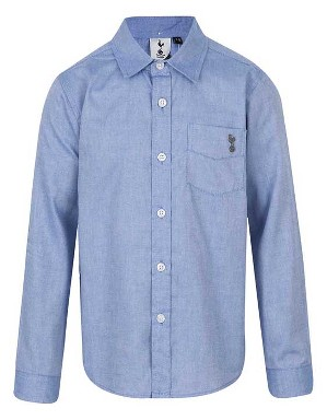 Spurs Boys Chambray Long Sleeve Shirt