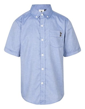 Spurs Kids Chambray Short Sleeve Shirt