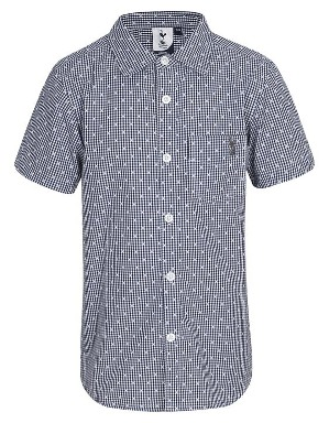 Spurs Kids Short Sleeve Check Detail Shirt