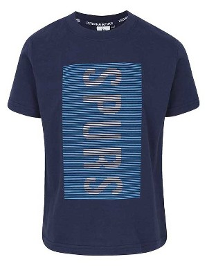 Spurs Boys Vertical Rubber Print T-Shirt
