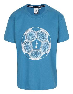 Spurs Kids Football And Crest Print T-Shirt