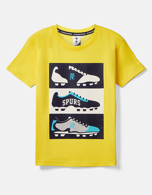 Youth Boys Football Boot Print T-Shirt