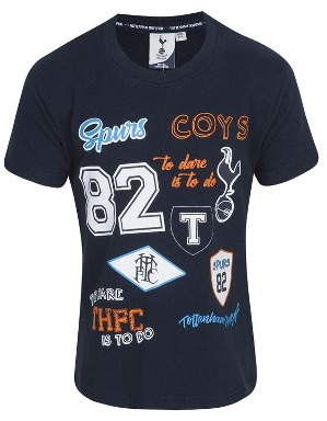 Spurs Kids Multi Flock And Print T-Shirt