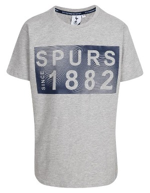 Spurs Kids Raised Rubber Print T-Shirt