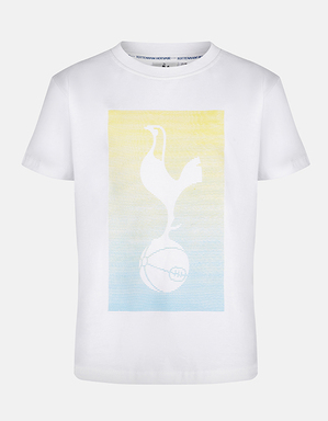 Spurs Kids Rubber Print Cockerel T-Shirt
