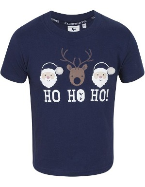 Spurs Kids Ho Ho Ho Christmas T-Shirt
