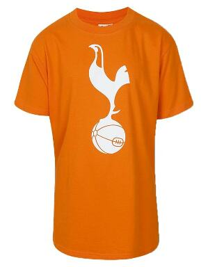 Spurs Kids Orange Large Crest T-Shirt