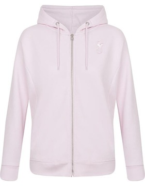Kids Girls Pink Essential Full Zip Hoodie