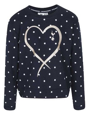 Spurs Girls Spot Print Sweat Top