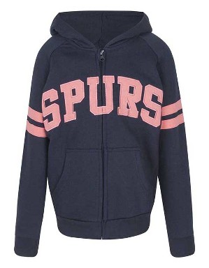 Spurs Girls Applique Zip Thru Hoodie