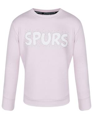 Spurs Kids Glitter Heart Print Sweatshirt