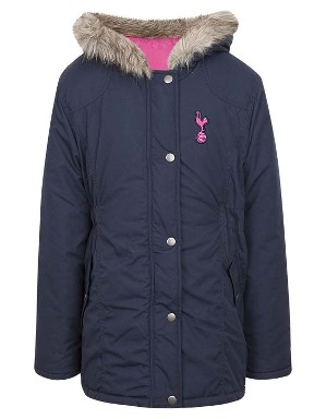 Spurs Girls Fur Collar Hooded Parka