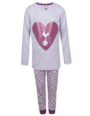 Kids Girls Spurs Sequin Heart Print PJs