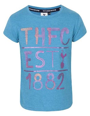 Spurs Girls THFC Mixed Print T-Shirt