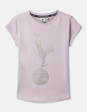 Spurs Kids Sequin Effect Cockerel T-Shirt