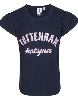 Spurs Girls Tottenham Frill Sleeve T-shirt