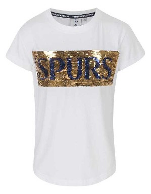 Spurs Girls Changing Sequin T-Shirt