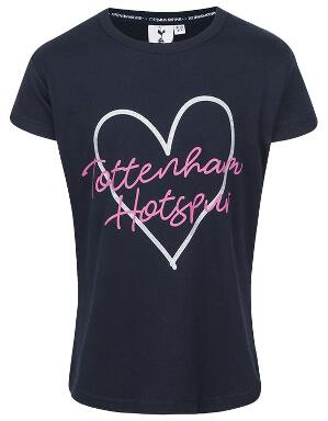 Kids Girls Heart Glitter Print T-Shirt