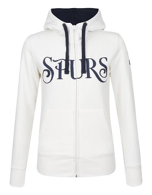 Spurs Womens Applique Zip Through Hoodie