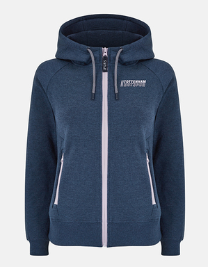 Spurs Womens Full Zip Iridescent Logo Hoodie